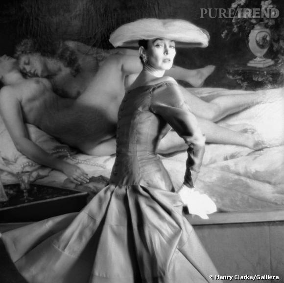 Robe de Jacques Heim Printemps-Eté 1955. Mannequin Dorian Leigh.