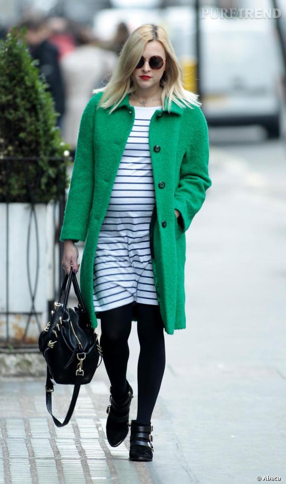 Fearne Cotton, enceinte adopte la tendance version vert.