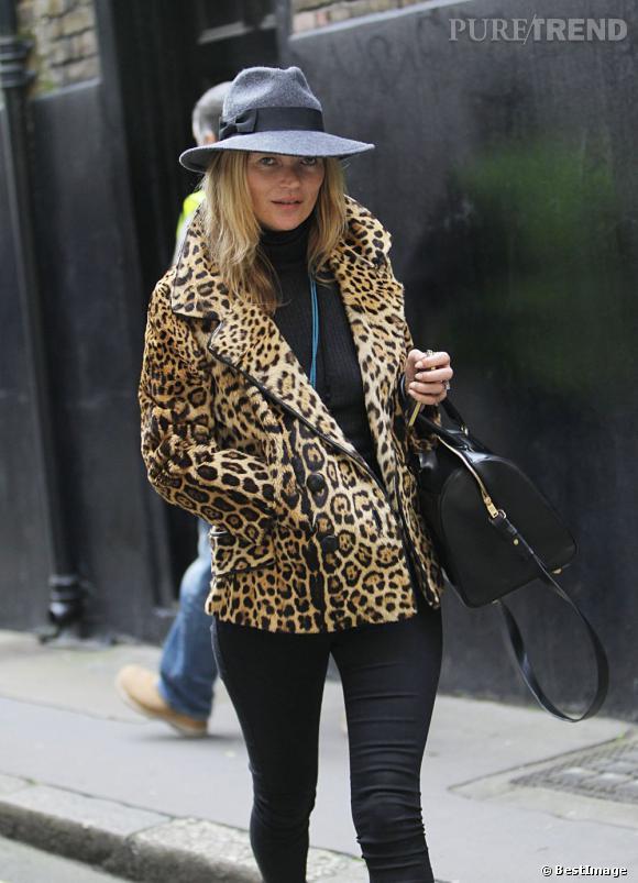 Kate Moss à Londres le 8 janvier.