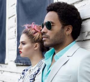 Lenny Kravitz et Charlotte Free posent pour Eleven Paris