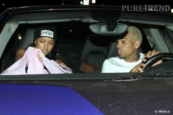 Chris Brown et Karrueche Tran sont dans une voiture... mais où est Rihanna ?