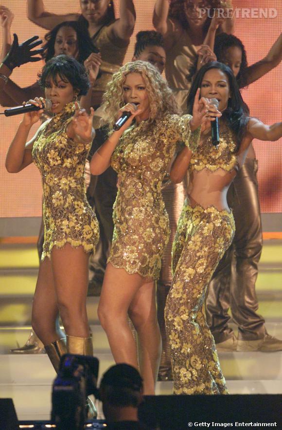 Les Destiny's Child en 2000 aux Billboard Music Awards. Tendance Golden Girls 70's.