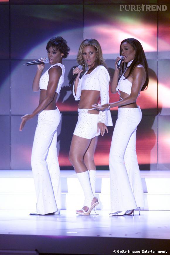 Les Destiny's Child en 2000 aux VH1 Vogue Fashion Award. Désormais, elles sont coordonnées, mais à trois !