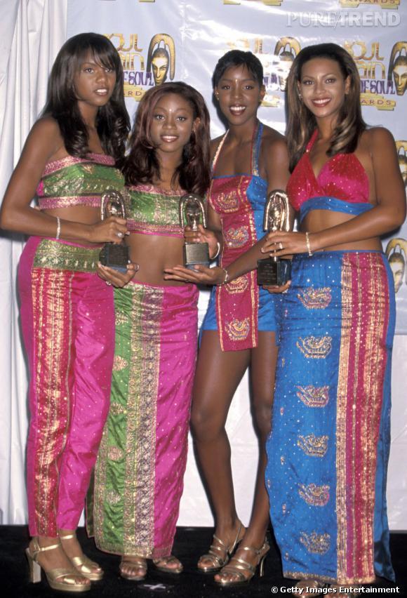 Les Destiny's Child en 1998 tendance néo hindou.