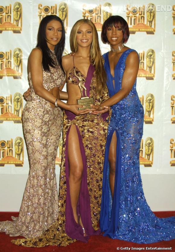 Les Destiny's Child en 2001 aux Soul Train Awards. Découpes sexy et détails brillants, elles savent se faire remarquer.