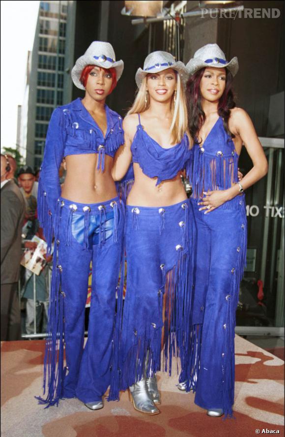 Les Destiny's Child en 2001 façon cow boy.