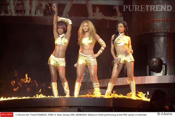 Les Destiny's Child en 2001. L'heure est au lamé doré pour tout le monde.