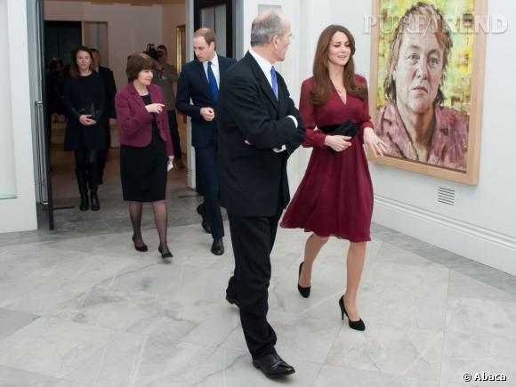 Kate Middleton il y a quelques semaines lors de l'inauguration de son portrait officiel.