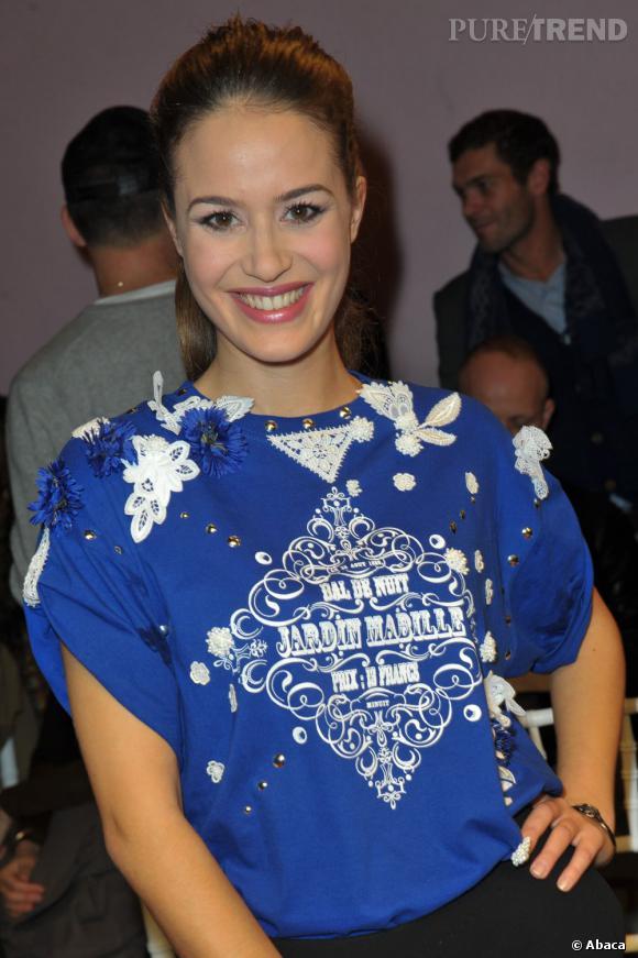L'actrice Alice David au défilé Alexis Mabille Haute Couture Printemps-Été 2013.