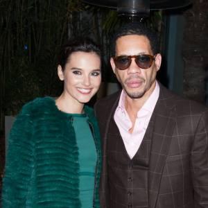 Virginie Ledoyen et Joey Starr au dîner de la mode Sidaction à Paris.