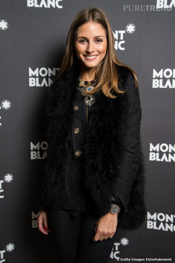 Olivia Palermo lors d'un diner Montblanc le 24 janvier à Genève.