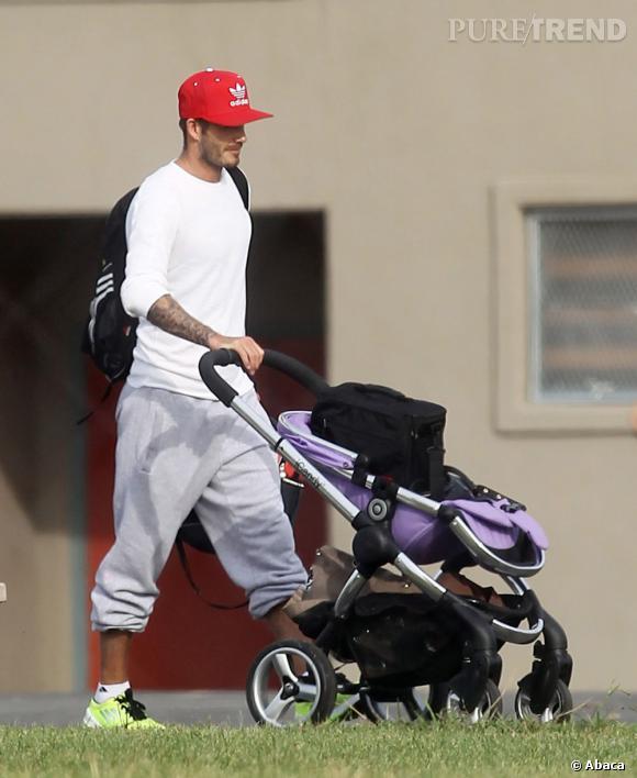 """Le flop """"avec Harper"""" :  David Beckham se lâche un peu."""