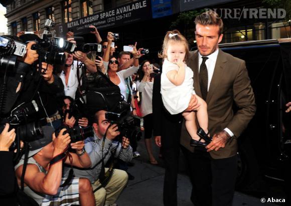 """Le top """"avec Harper"""" :  David Beckham, le papa classe."""