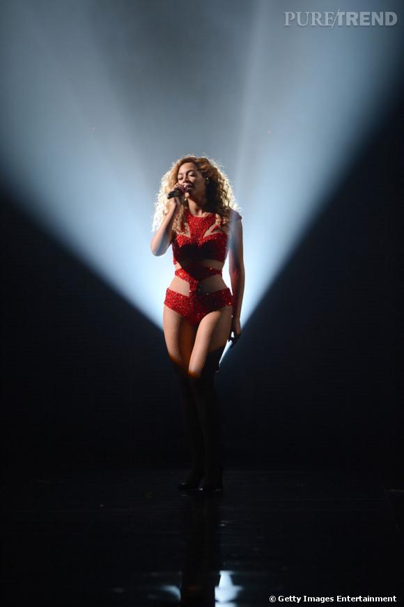 Beyoncé, passionnément lors d'un concert à Atlantic City en 2012.