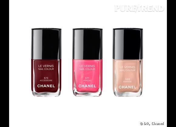 Le Vernis, Emprise, Fracas ou Accessoire, Printemps Précieux de Chanel, 22,50 €.