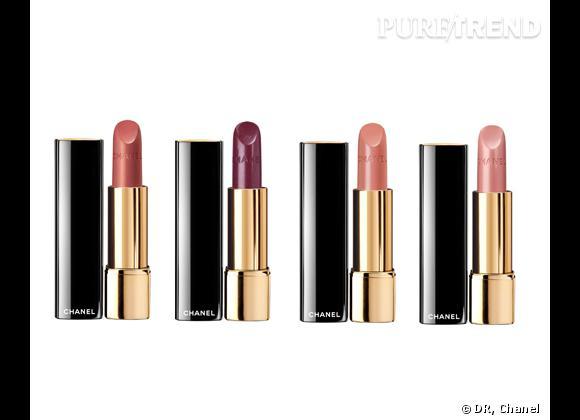 Rouge Allure, Fantasque, Précieuse, Envoûtante ou Captivante, Printemps Précieux de Chanel, 31,50 €.
