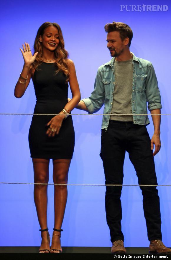 Rihanna et Adam Selman présentent la collection Rihanna x River Island en parallèle de la Fashion Week de Londres.