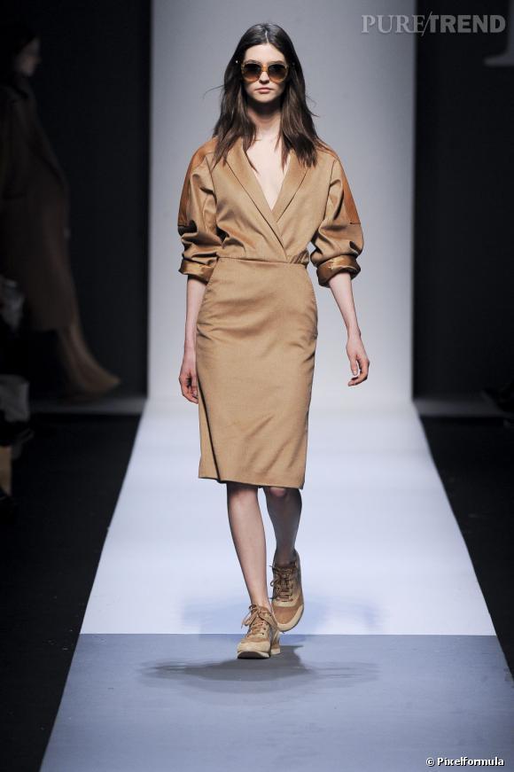Fashion Week de Milan Automne-Hiver 2013/2014 Défilé Max Mara. L'art de retrousser ses manches. Toutes ses manches.