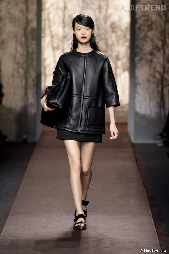 Fashion Week de Milan Automne-Hiver 2013/2014 Défilé Marni. Ode au cuir mais XL pour rester pointu.