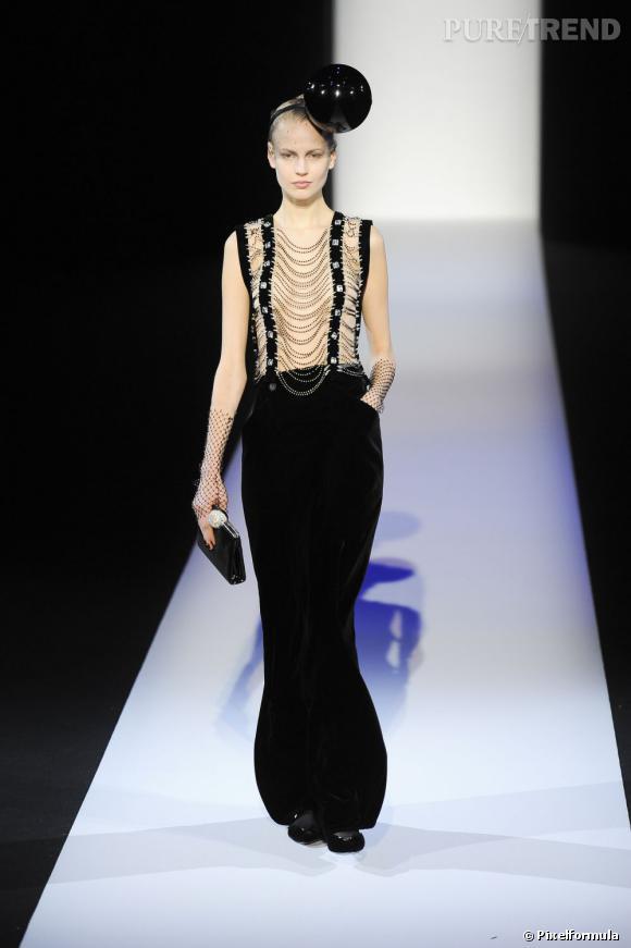 Fashion Week de Milan Automne-Hiver 2013/2014 Défilé Giorgio Armani. Inspiration SM.