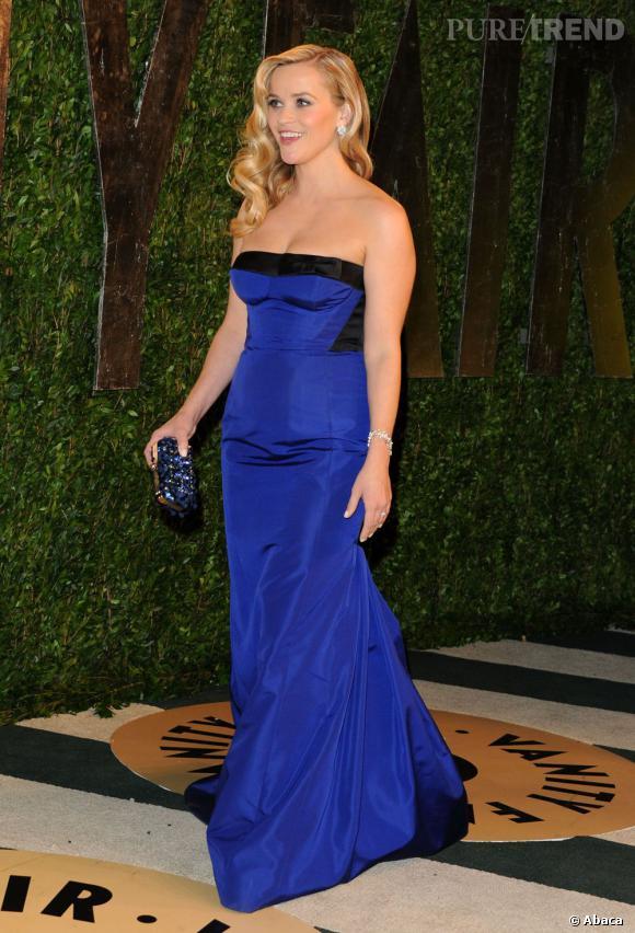Reese Witherspoon en Louis Vuitton à la soirée Vanity Fair post-Oscars 2013.