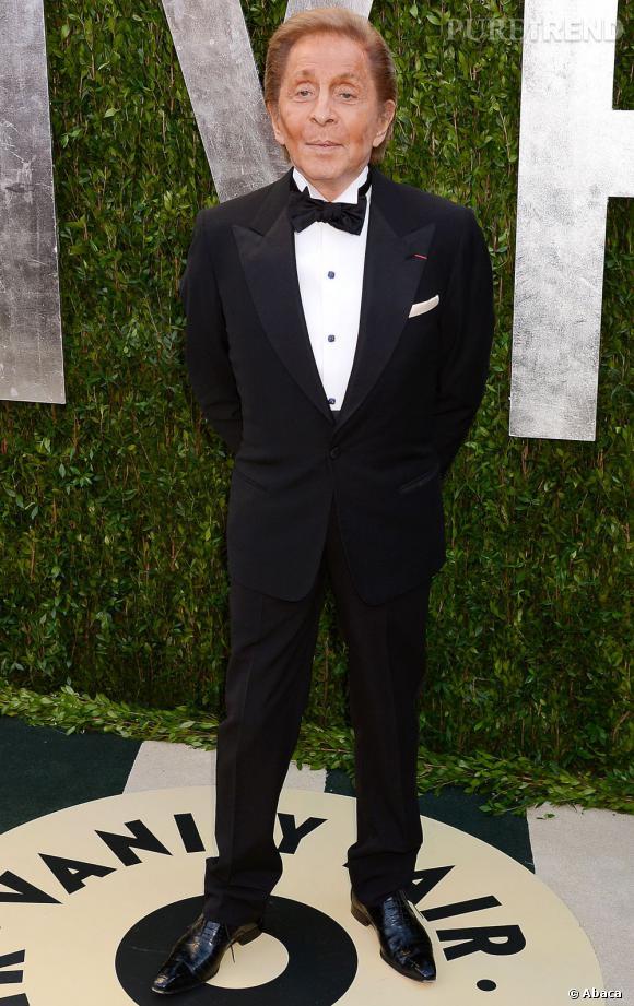 Valentino Garavani à la soirée Vanity Fair post-Oscars 2013.