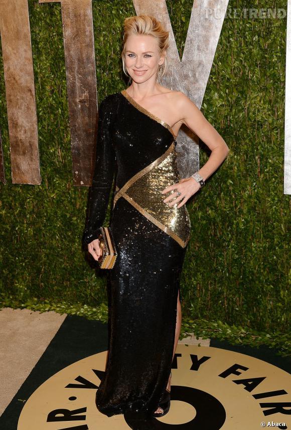 Naomi Watts à la soirée Vanity Fair post-Oscars 2013.