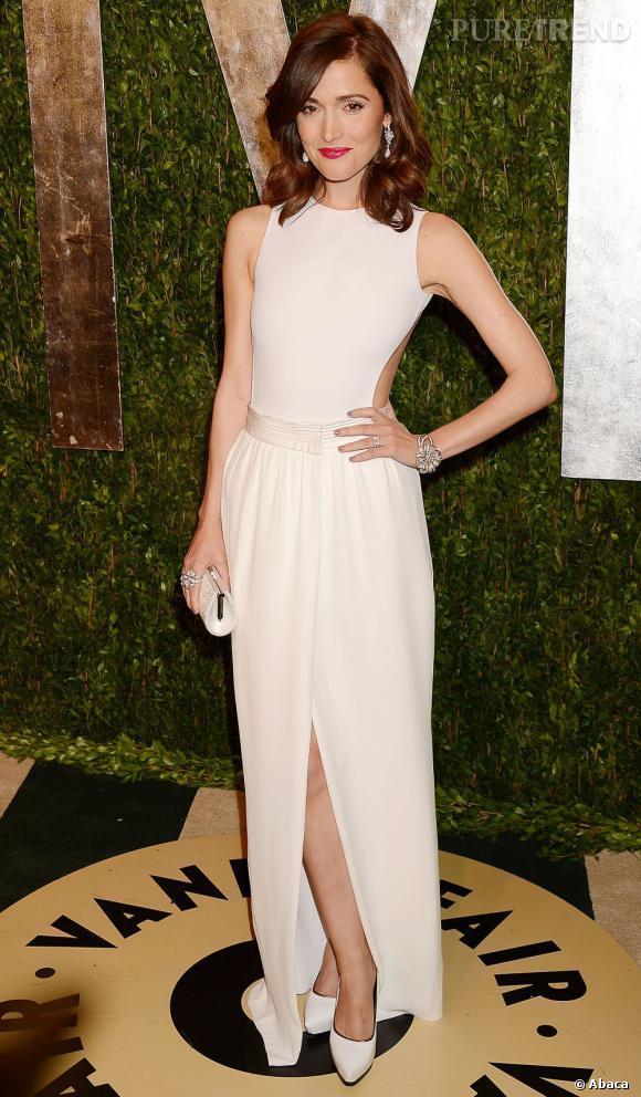 Rose Byrne en Lanvin à la soirée Vanity Fair post-Oscars 2013.