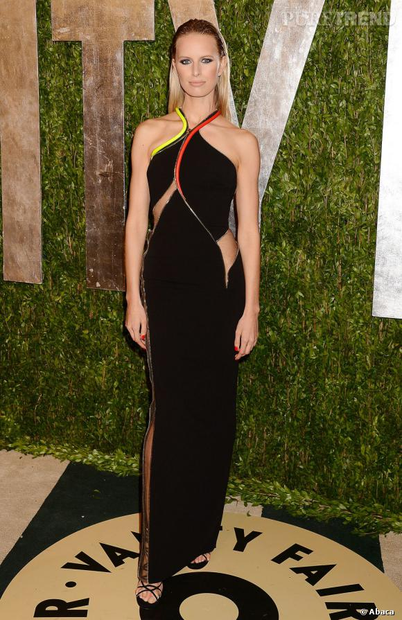 Karolina Kurkova en Atelier Versace à la soirée Vanity Fair post-Oscars 2013.