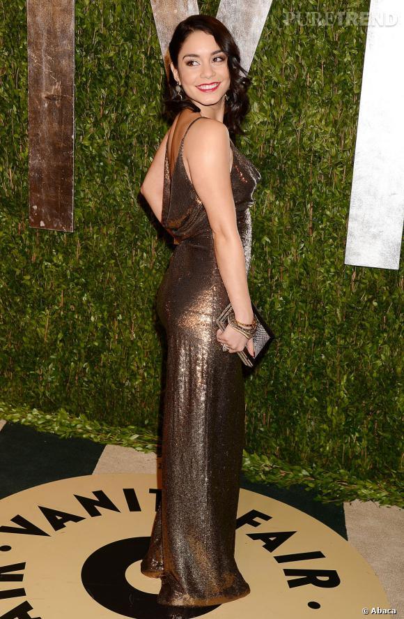 Vanessa Hudgens à la soirée Vanity Fair post-Oscars 2013.