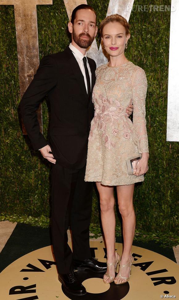 Kate Bosworth et Michael Polish à la soirée Vanity Fair post-Oscars 2013.