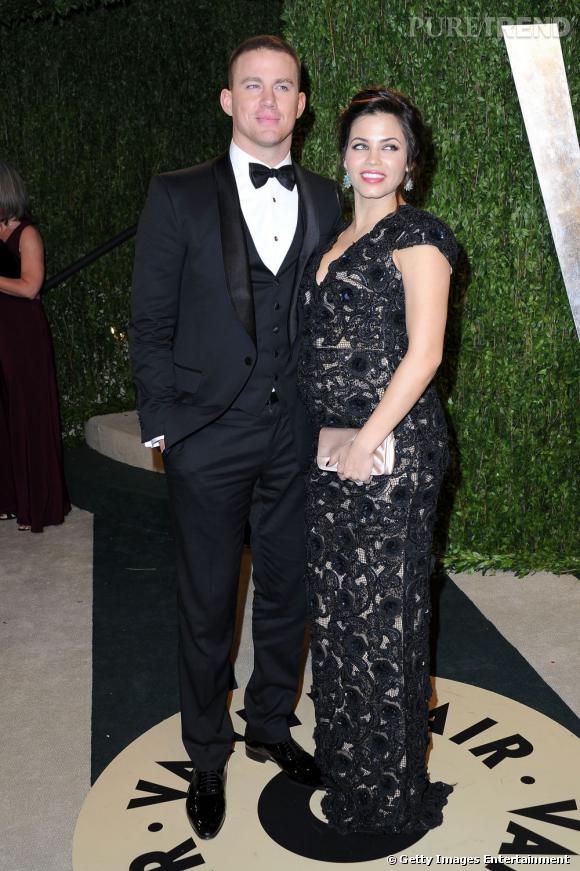 Channing Tatum et Jenna Dewanen Rachel Roy à la soirée Vanity Fair post-Oscars 2013.