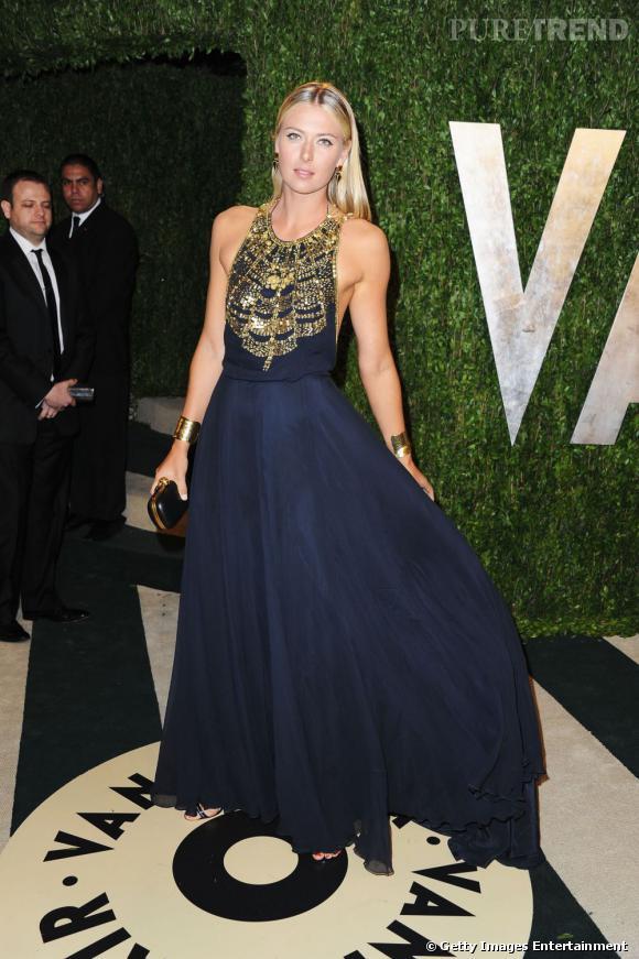 Maria Sharapova à la soirée Vanity Fair post-Oscars 2013.