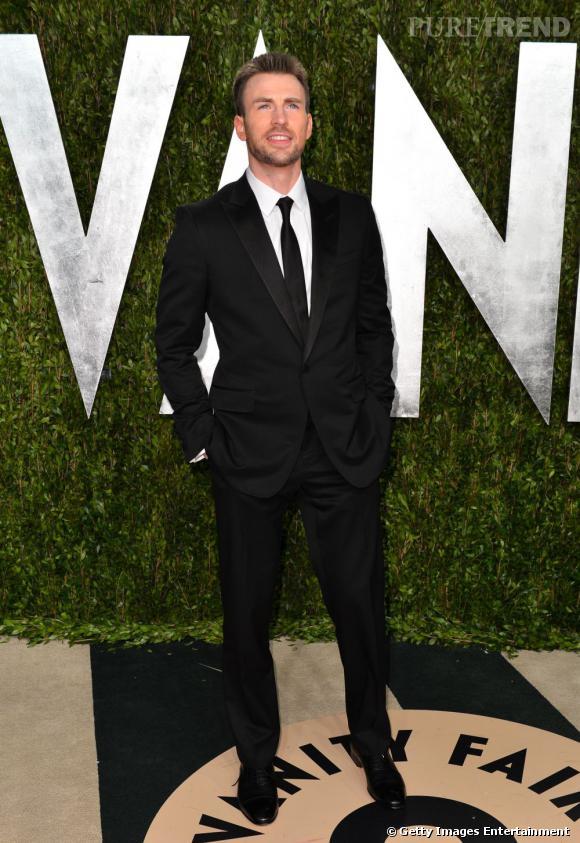 Chris Evans à la soirée Vanity Fair post-Oscars 2013.