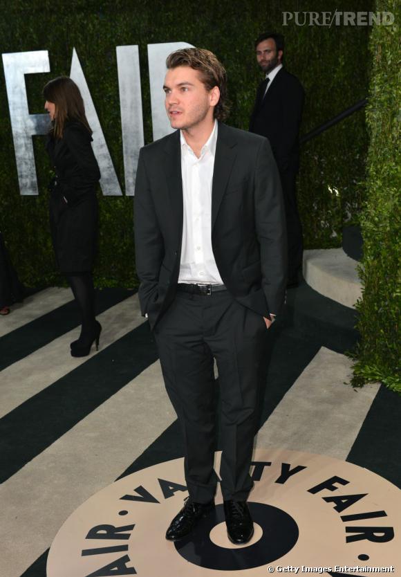 Emile Hirsch à la soirée Vanity Fair post-Oscars 2013.