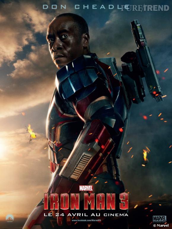 Don Cheadle joue le rôle de Rhodey, devenu Iron Patriot.