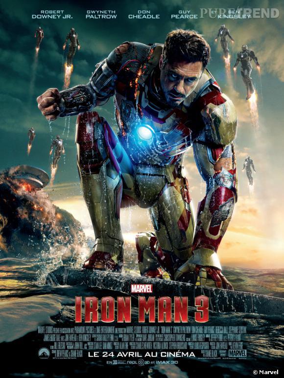 Voici l'affiche officielle d'Iron Man 3 ! On y voit aussi plusieurs Iron Man, donc la rumeur d'une armée d'Iron Man, créée par Tony Stark, pourrait être vraie !