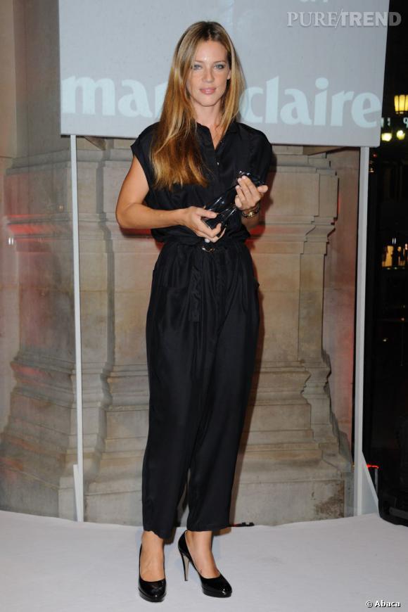 """Gaia Trussardi, gagnante du """"Prix d'excellence de la mode Marie Claire"""" en 2011 à Paris."""