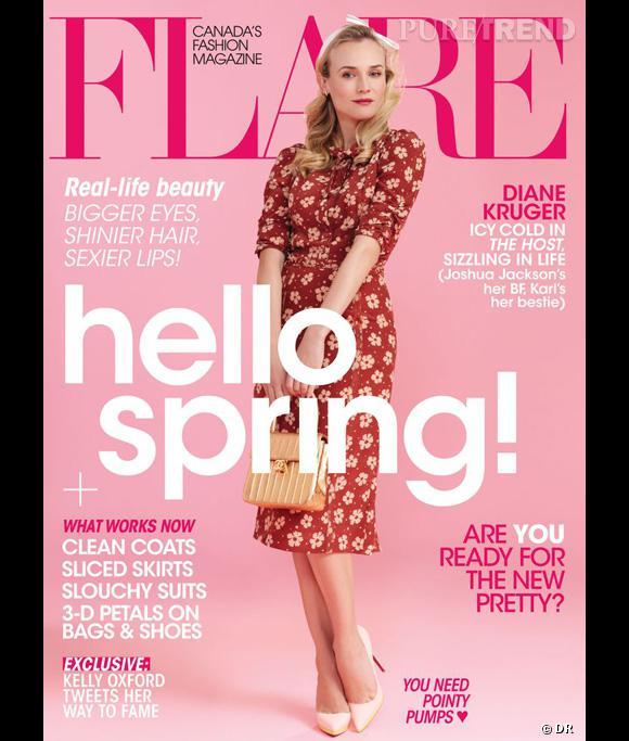 Diane Kruger pose pour le magazine canadien Flare.