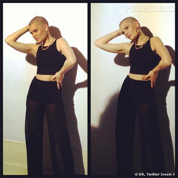 Première séance photo sans cheveux pour Jessie J.
