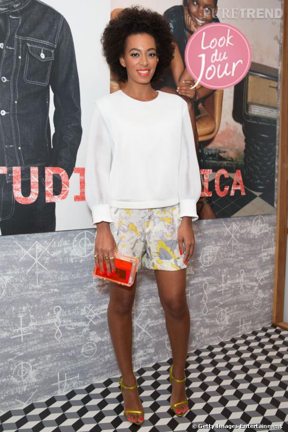 Solange Knowles lors de la soirée Diesel + Edun Studio Africa à Los Angeles.