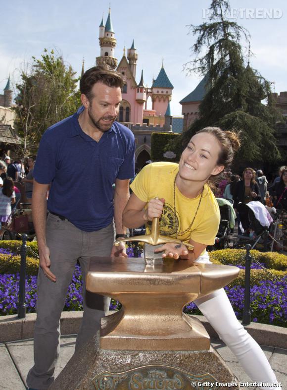Olivia Wilde et Jason Sudeikis, deux amoureux à Disneyland Paris...