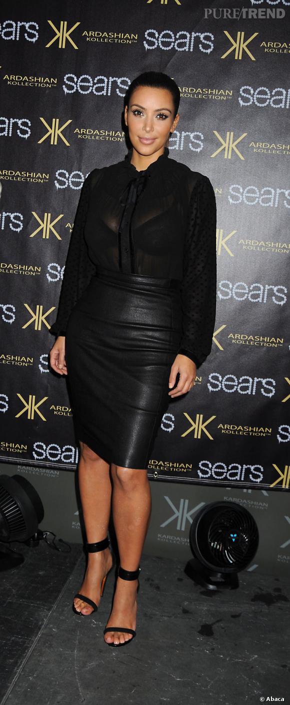Kim Kardashian adore le cuir... mais pourtant, quelque fois ça peut lui jouer des tours.