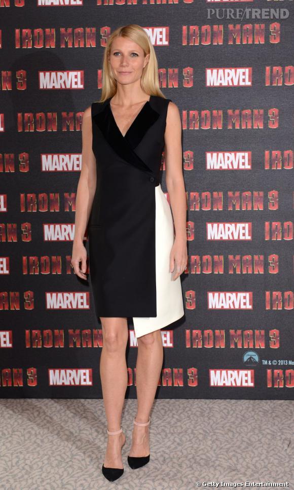 """Gwyneth Paltrow à The Dorchester à Londres pour la première d'""""Iron Man 3"""" le 17 avril 2013."""