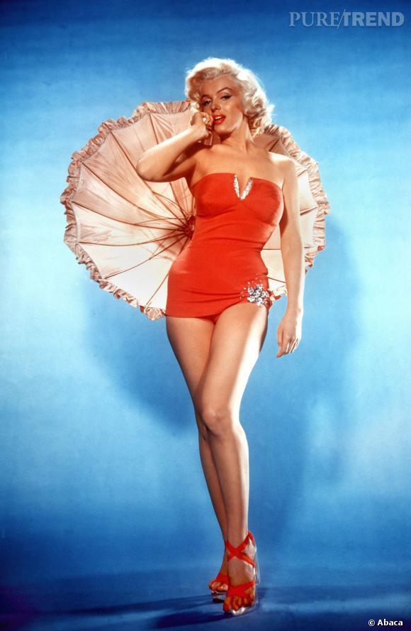 """Marilyn Monroe, """"plus belles courbes de tous les temps"""" selon un sondage."""