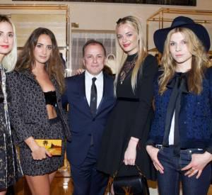 Clemence Poesy aux côtés d'Elisabeth Von Thurn und Taxis, Alexia Niedzielski, Michael Burke, Virginie Courtin à l'ouverture de la nouvelle boutique Louis Vuitton à Venise.