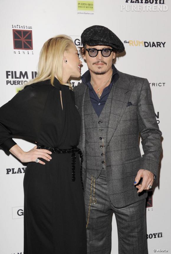 Johnny Depp et Amber Heard très proches à l'époque de The Rum Diary.