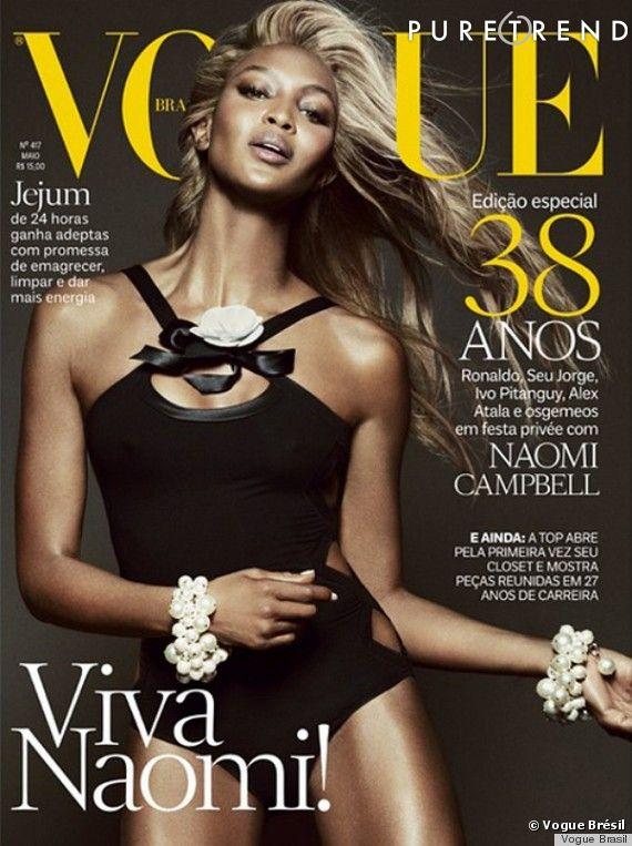 Naomi Campbell, blonde pour Vogue Brésil.