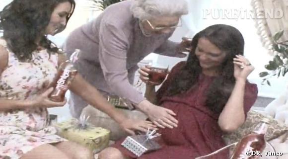 Extrait de la vidéo de la (fausse) babyshower de Kate Middleton vue par Alison Jackson.