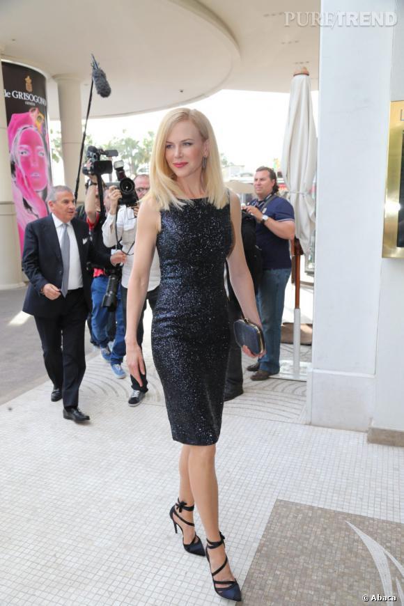 Nicole Kidman à son arrivée à l'hôtel Martinez pour le Festival de Cannes 2013.